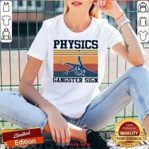 Physics Gangster Sign Vintage Retro V-neck- Design By Handstee.com