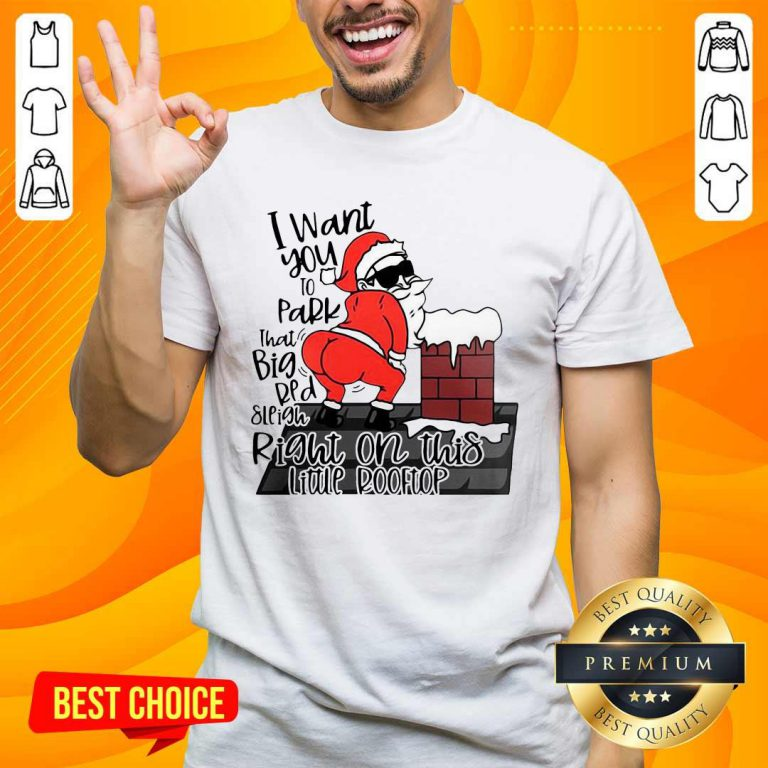 Santa Claus I Want You To Park That Big Red And Light Right On This Rooftop Ugly Christmas Shirt- Design By Handstee.com