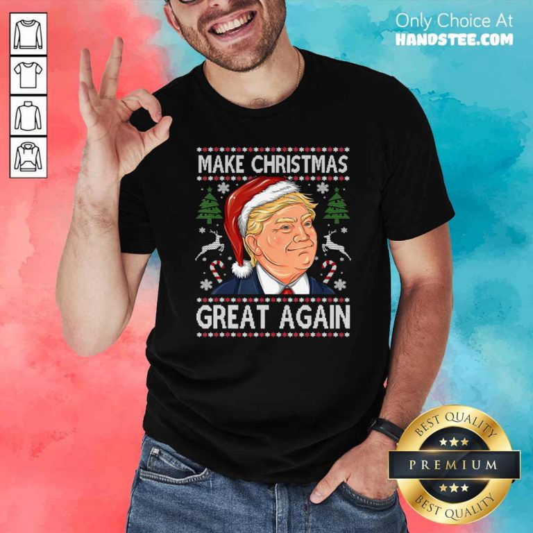 Official Trump Make Christmas Great Again Christmas Shirt - Design by handstee.com