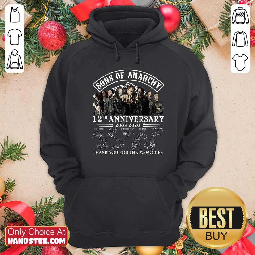 Son Of Anarchy 13th Anniversary 2008 Thank You For The Memories Signatures Hoodie - Design by handstee.com