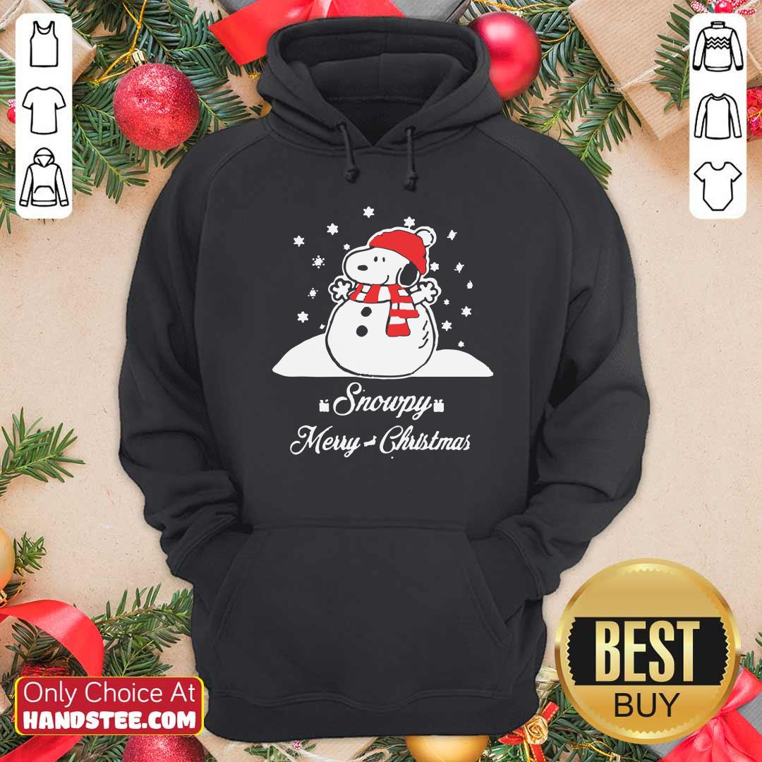 Top Snowpy Merry Christmas Sweater Christmas Snoopy Peanuts Hoodie- Design by handstee.com