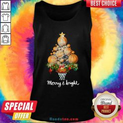Volleyball Merry And Bright Christmas Tree Tank-Top Design By Handstee.com