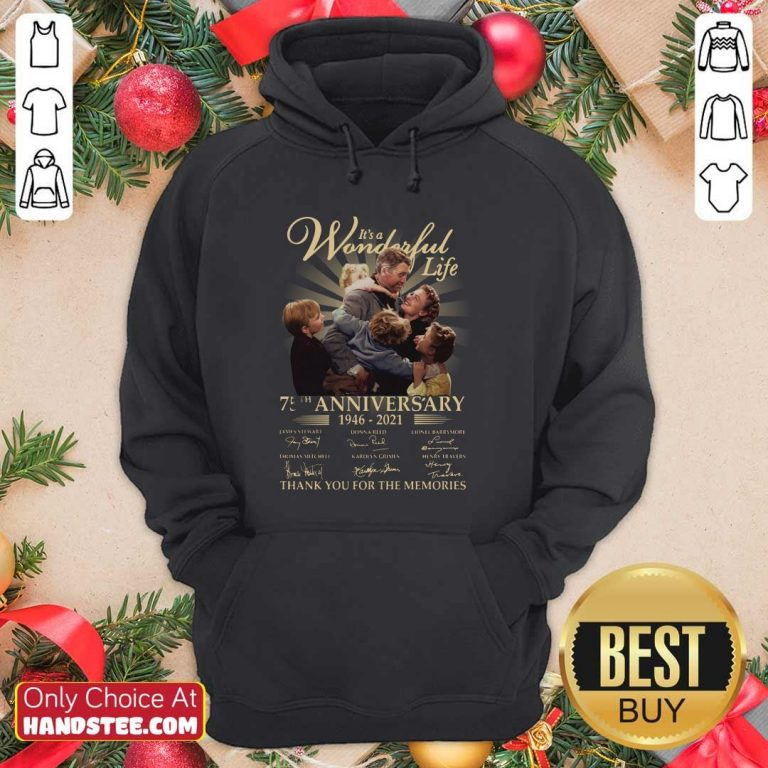 Amused Its A Wonderful Life 75th Hoodie - Design by Handstee.com