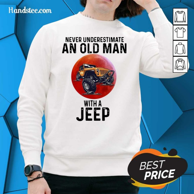 Amused Underestimate An Old Man With A Jeep 5 Sweater