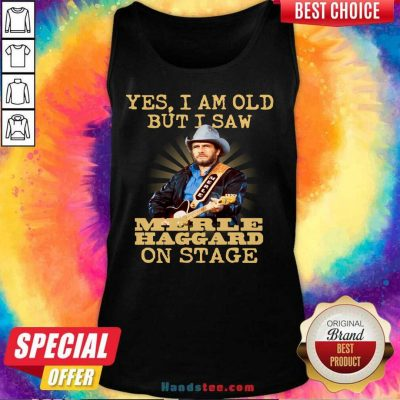 Amused Yes Merle Haggard 56 On Stage Tank Top - Design by Handstee.com