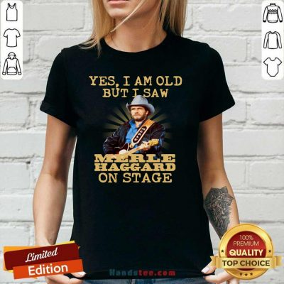 Amused Yes Merle Haggard 56 On Stage V-neck - Design by Handstee.com