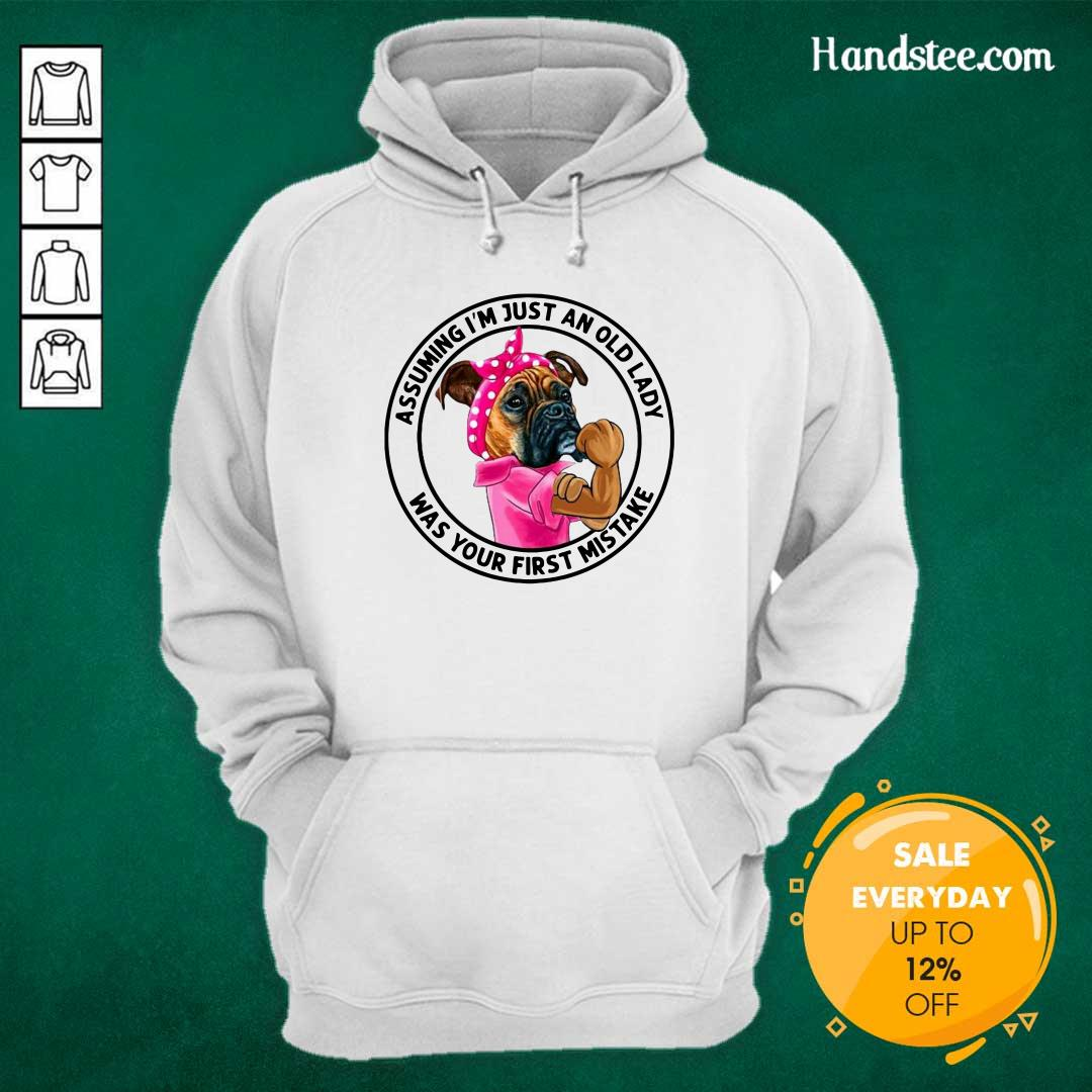 Angry 5 Just An Old Lady Was Your Mistake Hoodie