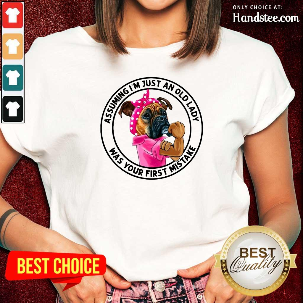 Angry 5 Just An Old Lady Was Your Mistake Ladies Tee