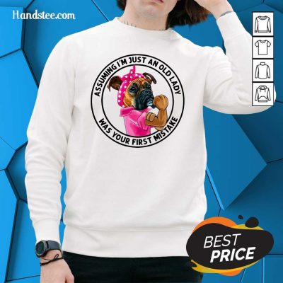 Angry 5 Just An Old Lady Was Your Mistake Sweater