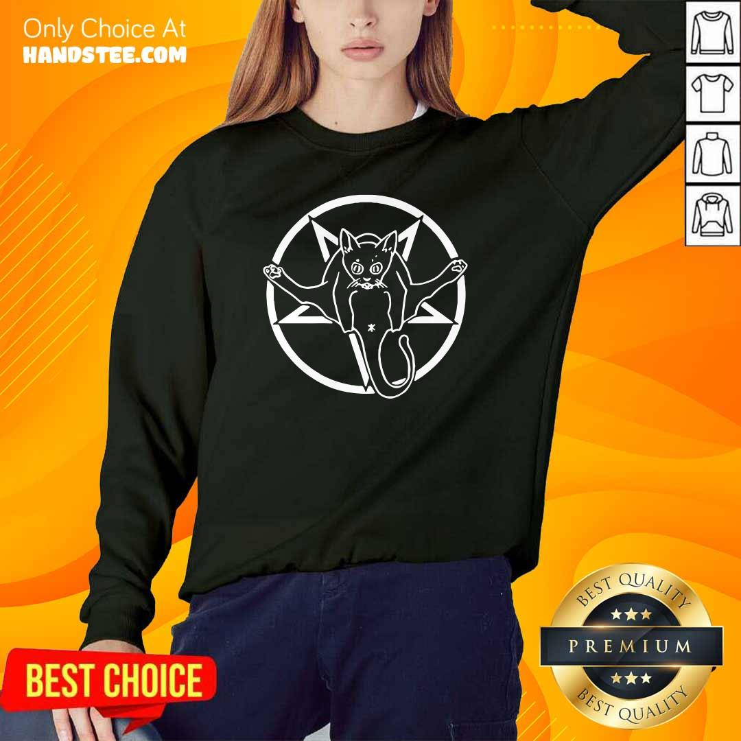 Angry Grimytee Hail Catan Cat Satan Devil 4 Sign By Finja Sweater - Design by Handstee.com