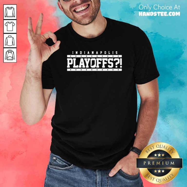 Angry Indianapolis Colts 39 Playoffs Shirt - Design by Handstee.com