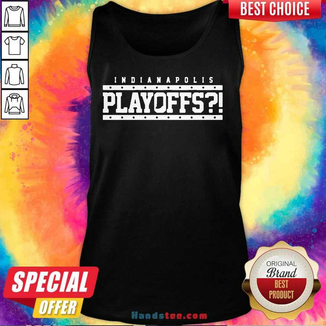 Angry Indianapolis Colts 39 Playoffs Tank Top - Design by Handstee.com