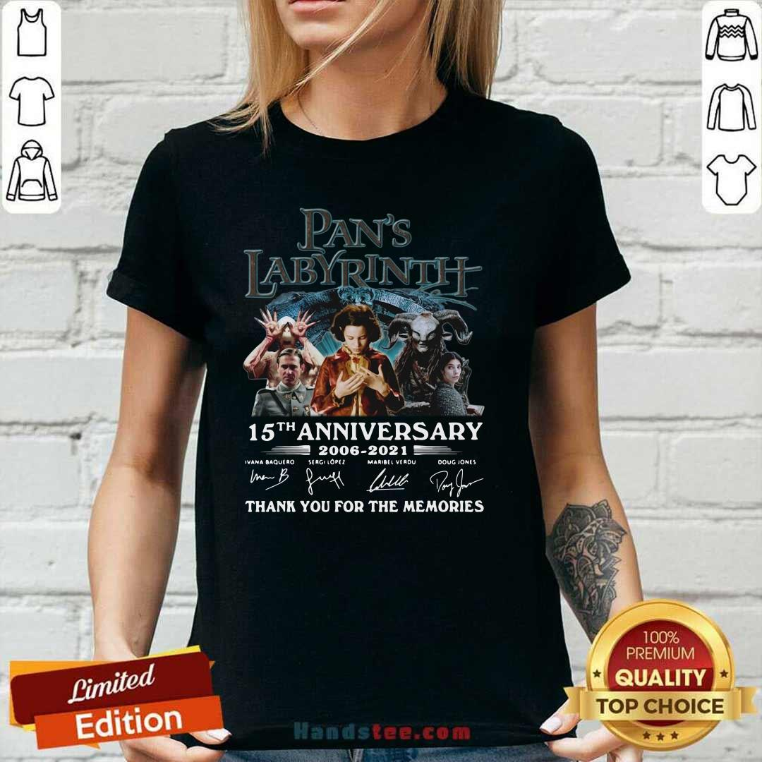 Angry Pans Labyrinth 15th V-neck - Design by Handstee.com
