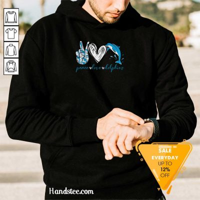 Angry Peace Love And Dolphins 2021 Hoodie