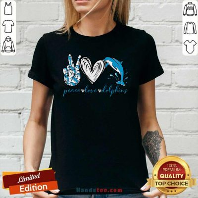 Angry Peace Love And Dolphins 2021 Ladies Tee