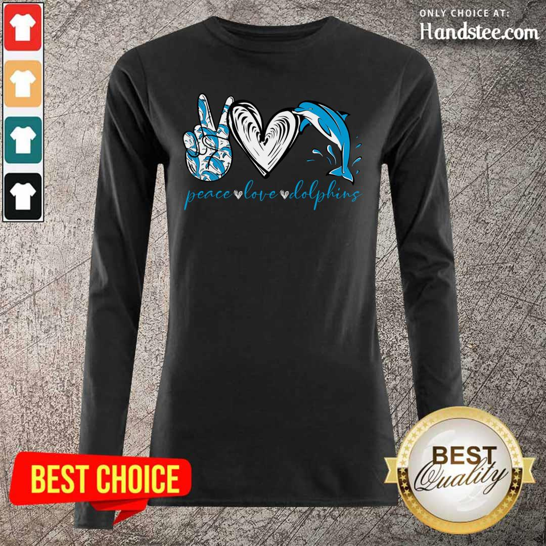Angry Peace Love And Dolphins 2021 Long-Sleeved