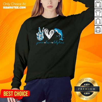 Angry Peace Love And Dolphins 2021 Sweater