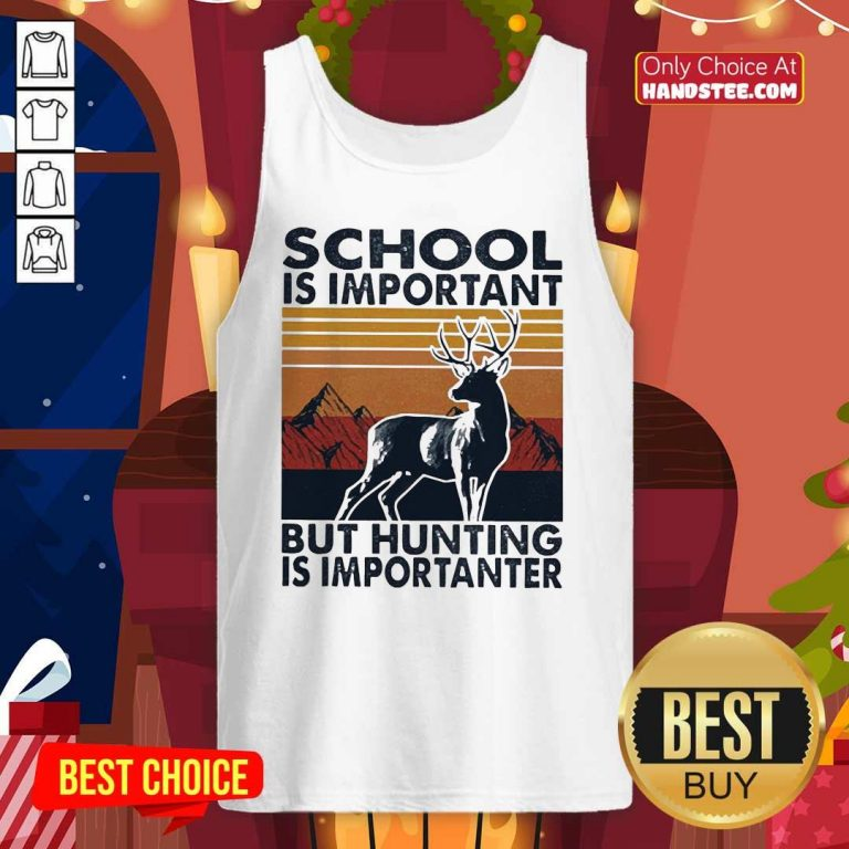 Angry School But Hunting 16 Importanter Tank Top - Design by Handstee.com