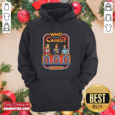 Angry Who 52 Cares Game Show Hoodie - Design by Handstee.com