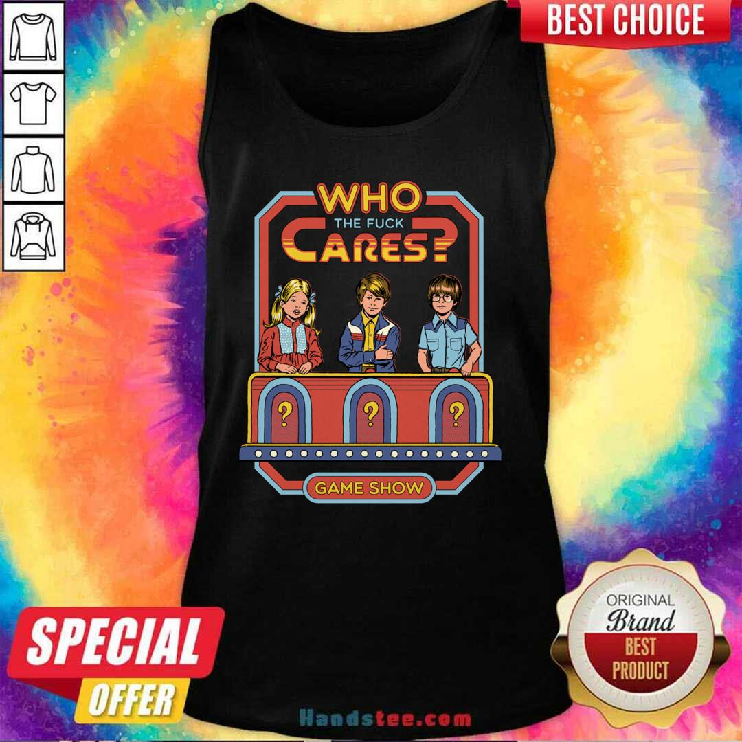 Angry Who 52 Cares Game Show Tank Top - Design by Handstee.com