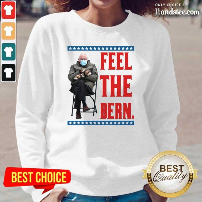Annoyed Bernie Sanders Meme Feel The Bern Tee 2 Long-Sleeved