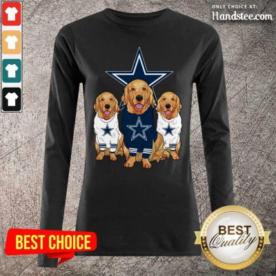 Annoyed Dogs For Team Dallas Cowboy Star 2021 Long-Sleeved