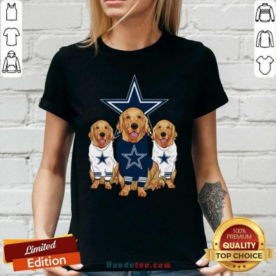 Annoyed Dogs For Team Dallas Cowboy Star 2021 Ladies Tee