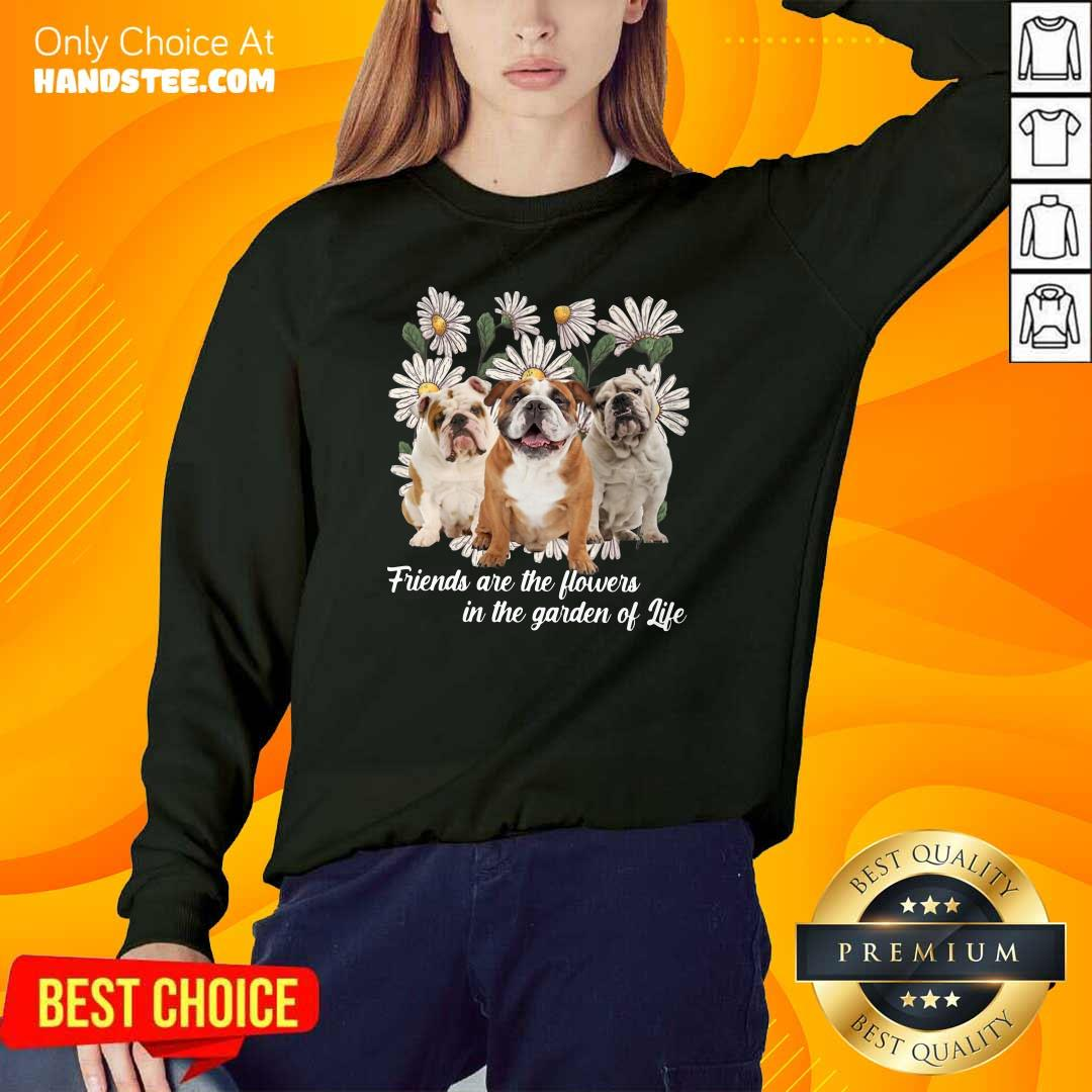 Anxious Pugs Friends Are The Flowers 1 Sweater