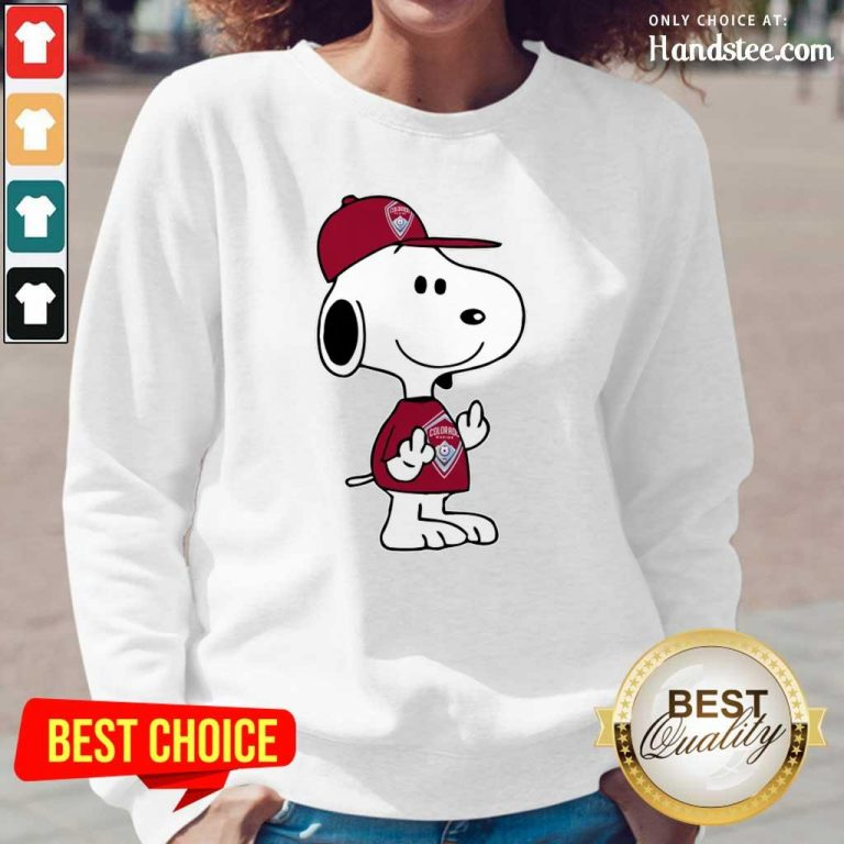 Ashamed Snoopy Colorado Rapids MLS Double 3 Long-Sleeved