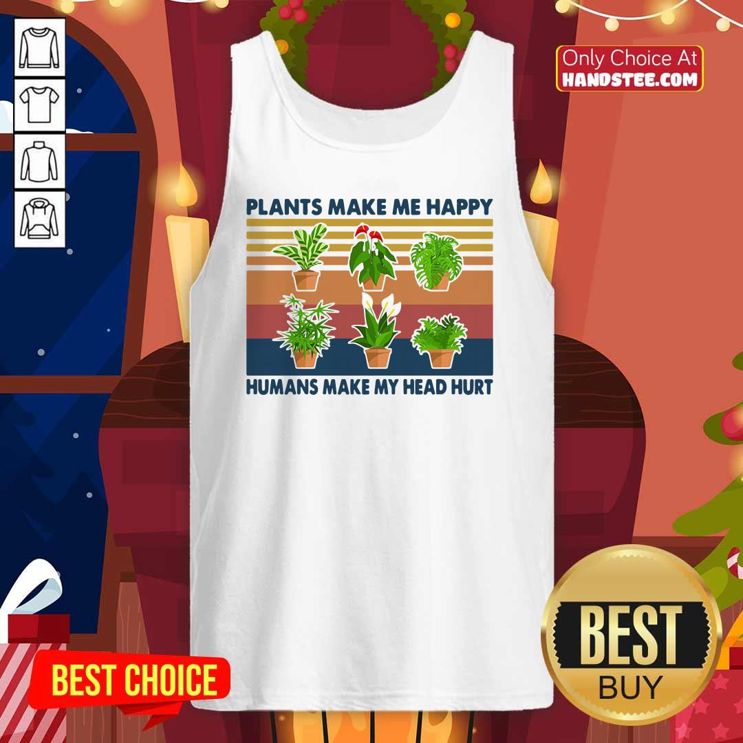 Awesome 4 Gardening Plants Happy Tank Top - Design by Handstee.com