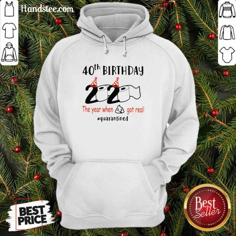 Awesome 40th Birthday 2020 Hoodie - Design by Handstee.com