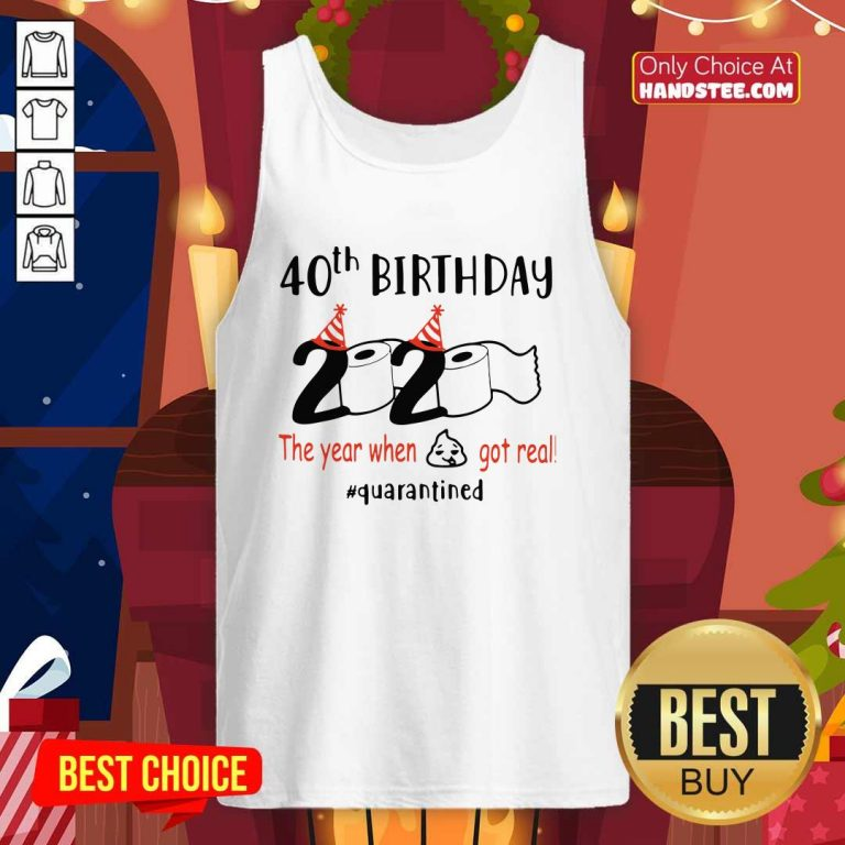 Awesome 40th Birthday 2020 Tank Top - Design by Handstee.com