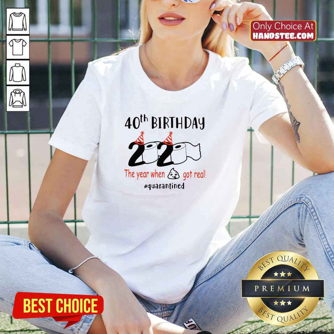 Awesome 40th Birthday 2020 V-neck - Design by Handstee.com