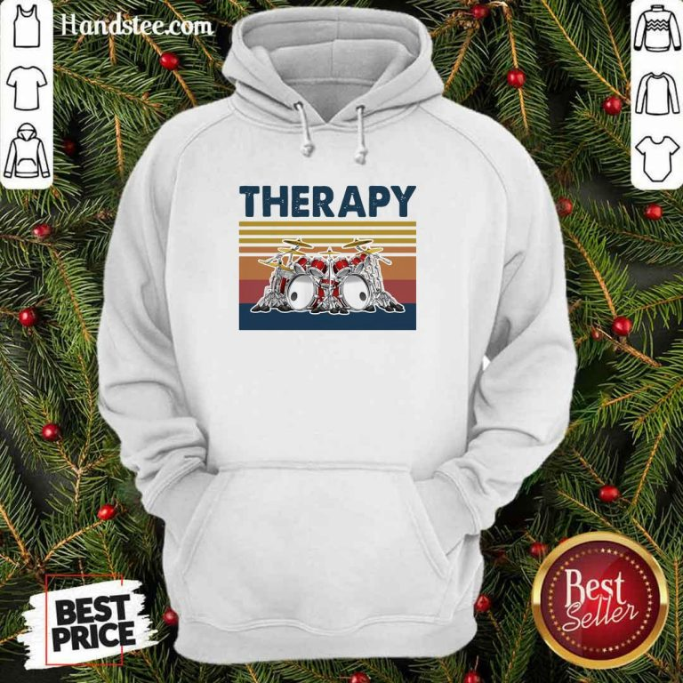 Awesome 44 Therapy Drum Band Music Hoodie - Design by Handstee.com