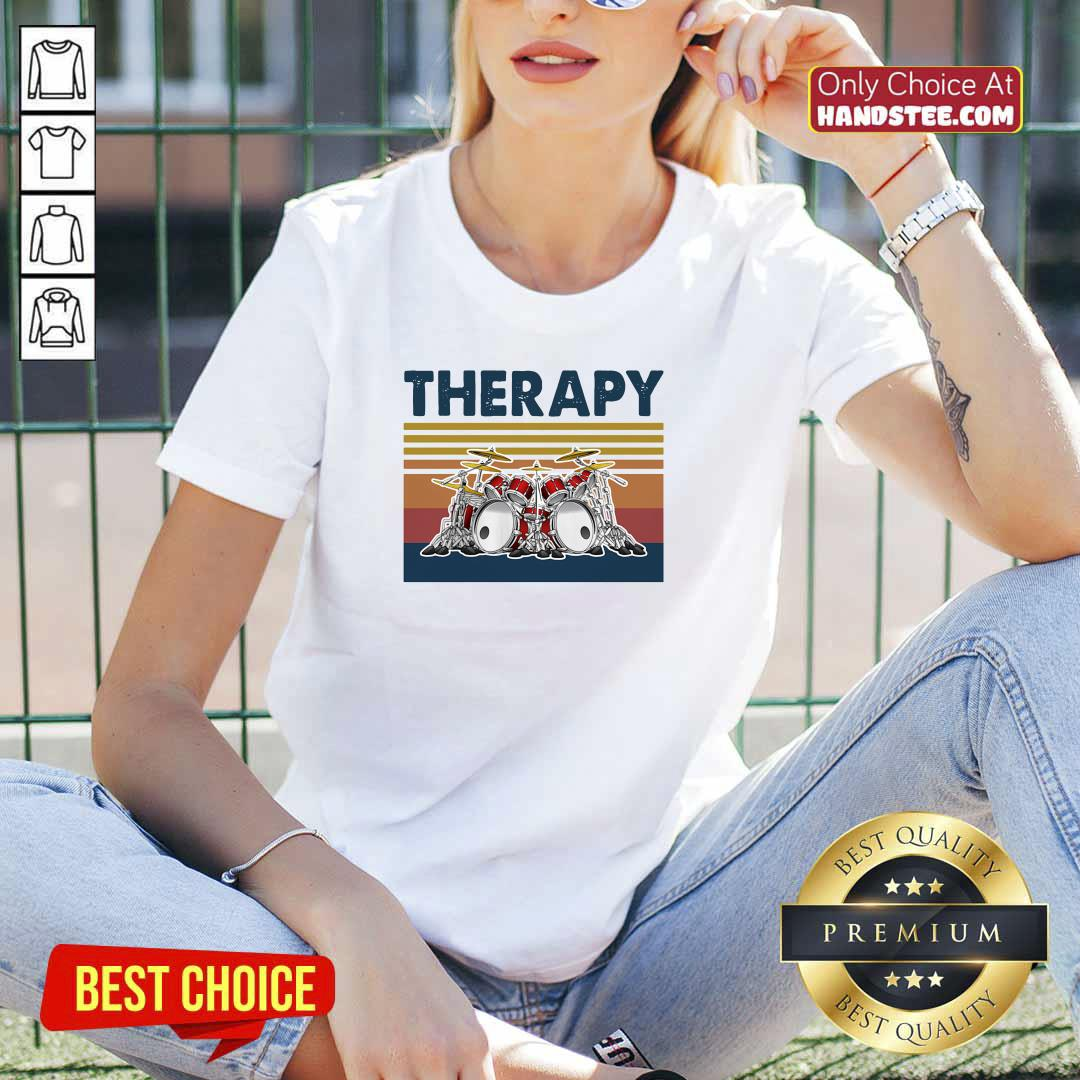 Awesome 44 Therapy Drum Band Music V-neck - Design by Handstee.com