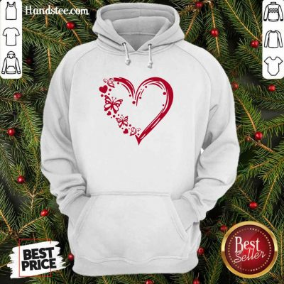 Awesome Butterfly 100 Hearts Hoodie - Design by Handstee.com