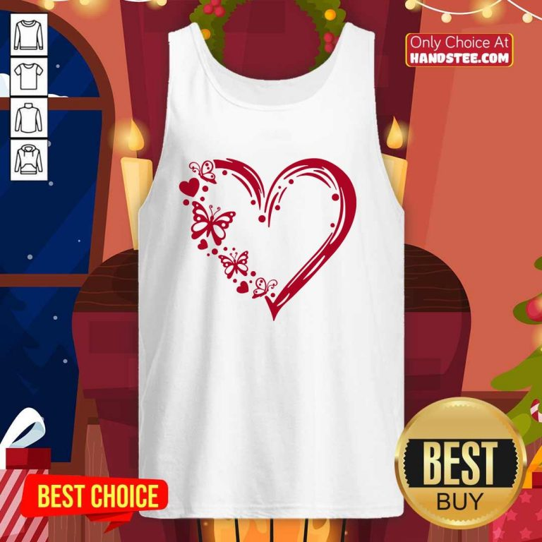 Awesome Butterfly 100 Hearts Tank Top - Design by Handstee.com
