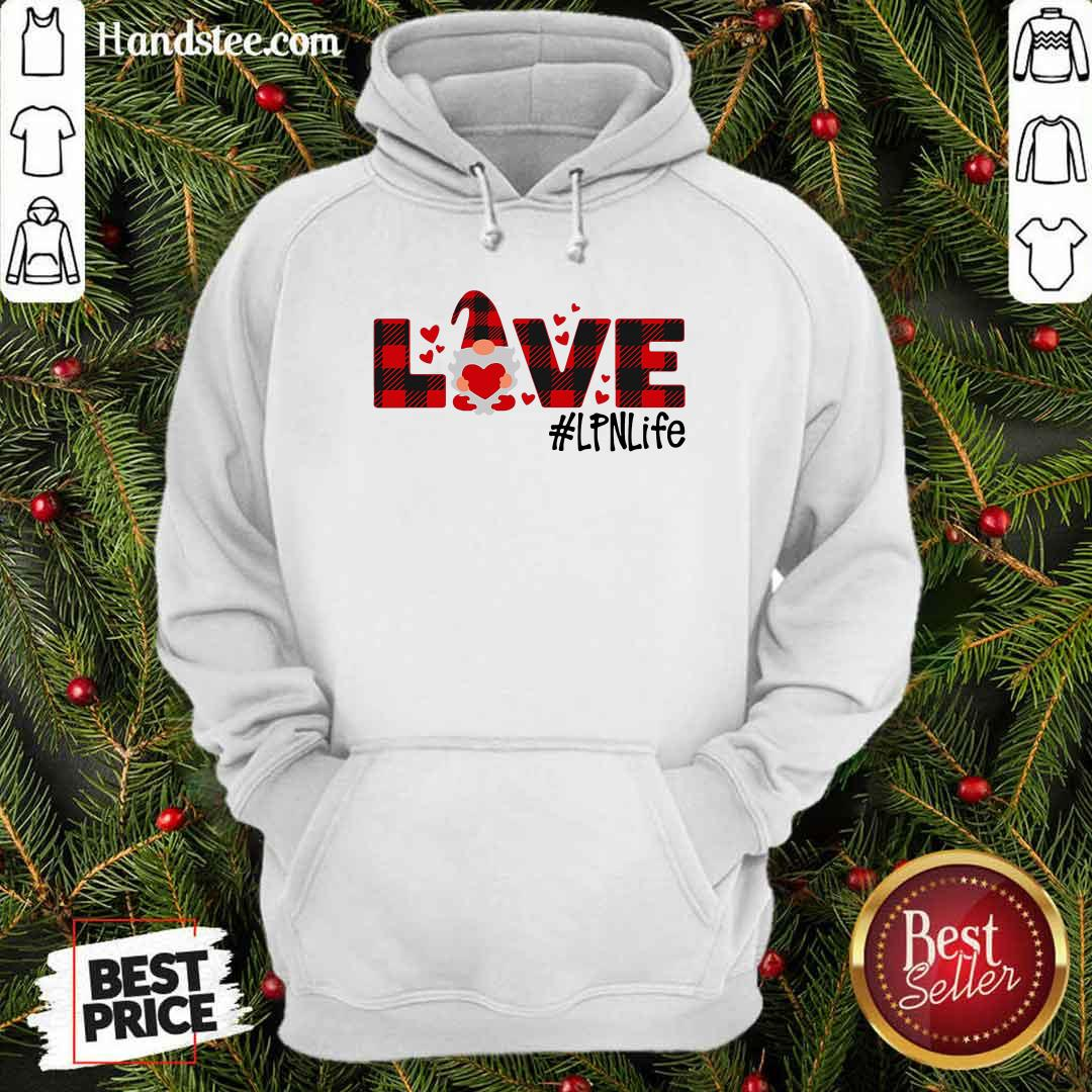 Awesome Gnome Love Valentine #LPN Life Hoodie - Design by handstee.com