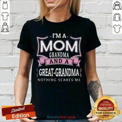Awesome Im A Mom Grandma 26 V-neck - Design by Handstee.com