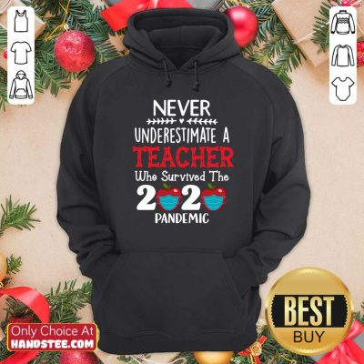 Awesome Never Underestimate A Teacher Who Survived The 2020 Pandemic Hoodie - Design by handstee.com