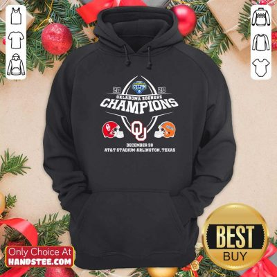 Awesome Oklahoma Sooners Champions December 30 At&t Stadium Arlington Texas Hoodie - Design by handstee.com