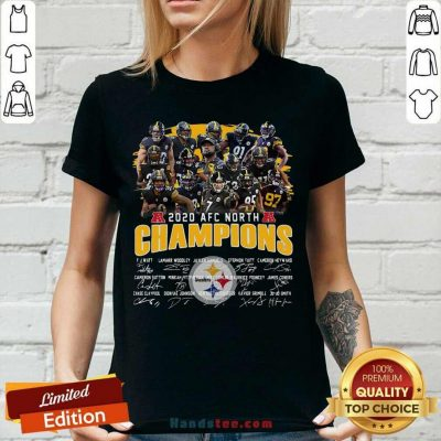 Awesome Pittsburgh Steelers 2020 Afc North Champions Signatures Tank Top - Design by handstee.com