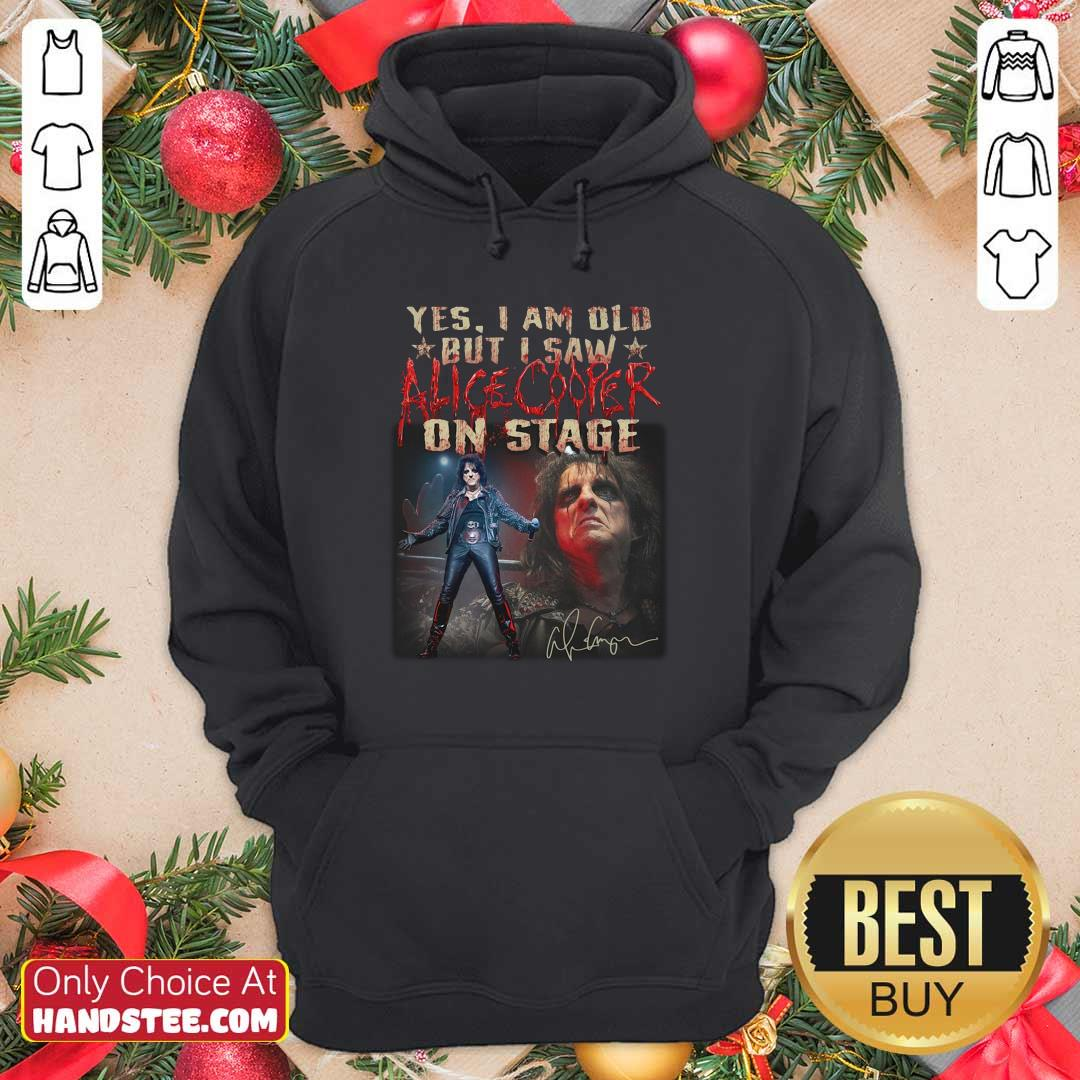 Awesome Saw Alice Cooper On 22 Stage Hoodie - Design by Handstee.com