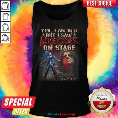 Awesome Saw Alice Cooper On 22 Stage Tank Top - Design by Handstee.com