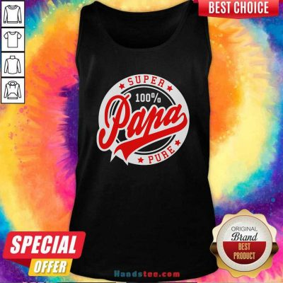 Awesome Super Papa 100 Percent Pure Stars Seal Tank Top - Design by handstee.com