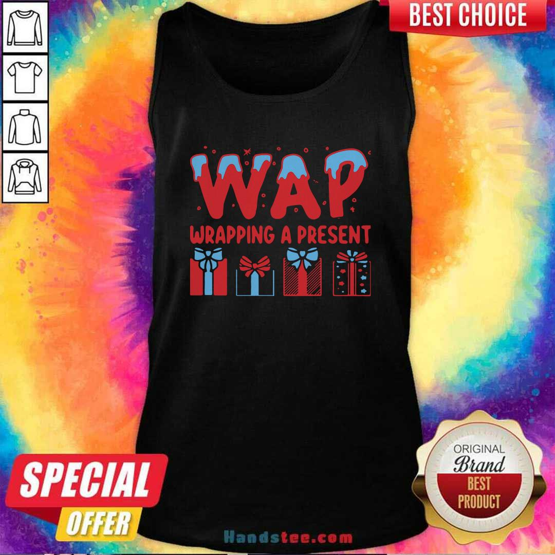 Awesome Wap Wrapping A Present Tank Top - Design by handstee.com