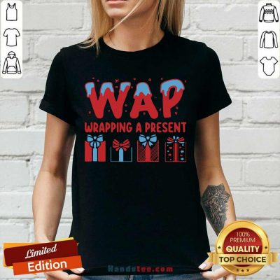 Awesome Wap Wrapping A Present V-neck - Design by handstee.com