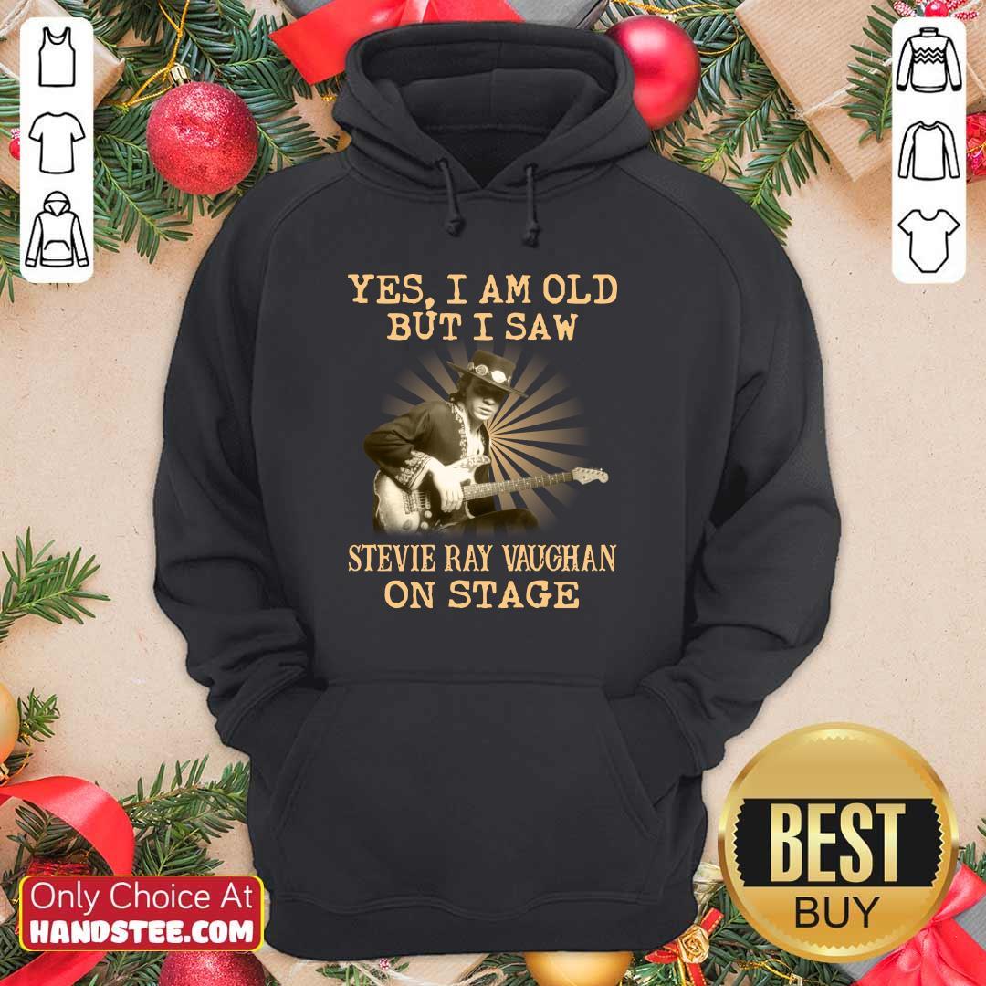 Happy Yes Stevie Ray Vaughan On Stage 2 Hoodie - Design by Handstee.com