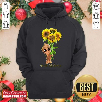 Baby Groot Hold Sunflowers You Are My Sunshine Hoodie - Design by handstee.com