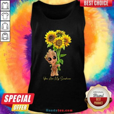 Baby Groot Hold Sunflowers You Are My Sunshine Tank Top - Design by handstee.com